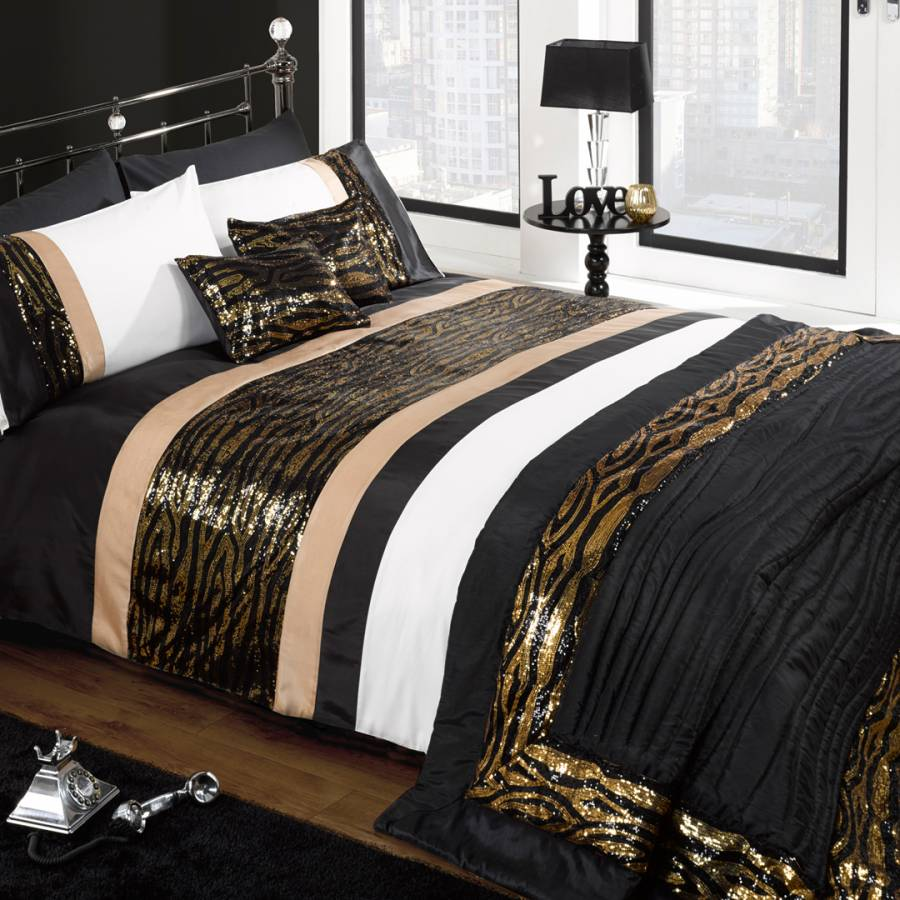Black Gold Madagascar Double Duvet Set Brandalley