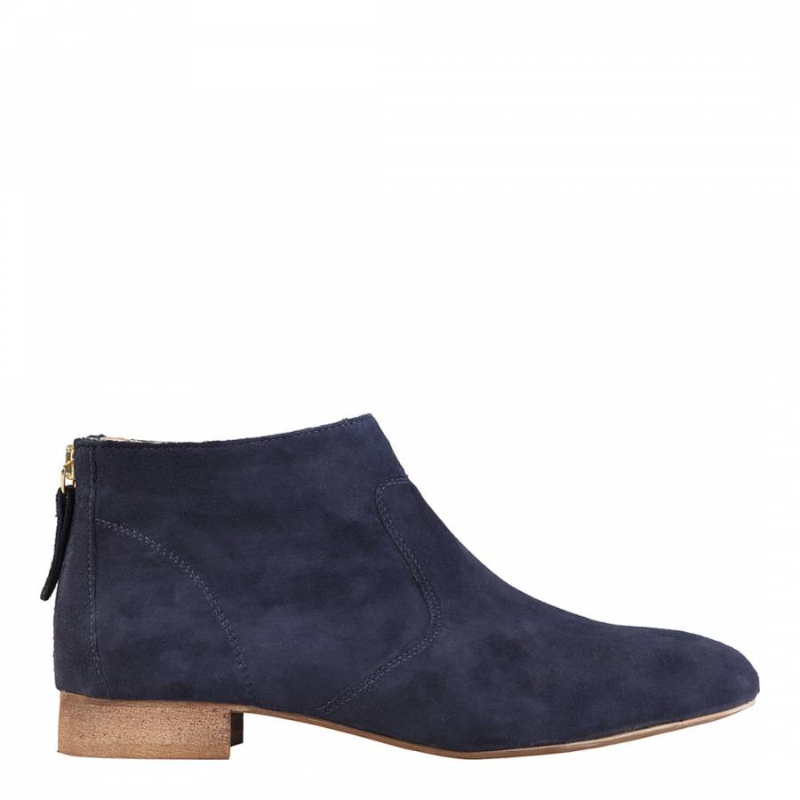 navy suede flat ankle boots brandalley