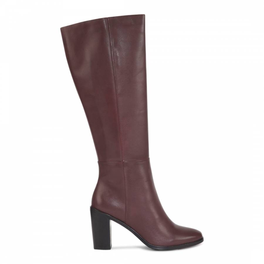 burgundy leather tootin knee high boots brandalley