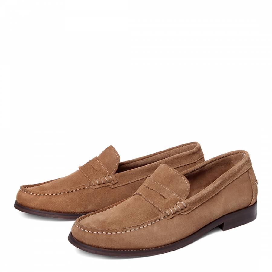 light brown augusta suede formal shoes brandalley