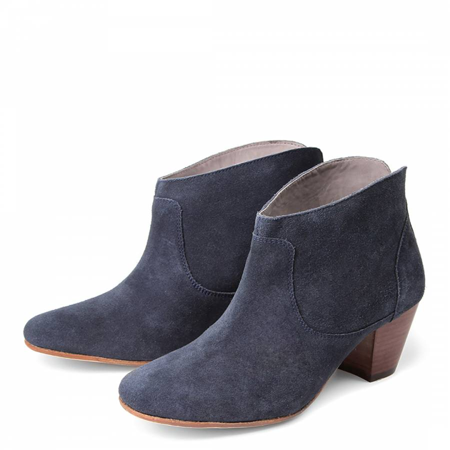 navy suede kiver ankle boots brandalley