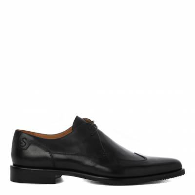 Black Altedo Leather Derby Shoes