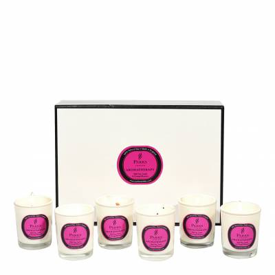 Set of Six Wild Fig/Cassis/Orange Blossom Aromatherapy Gift Candles