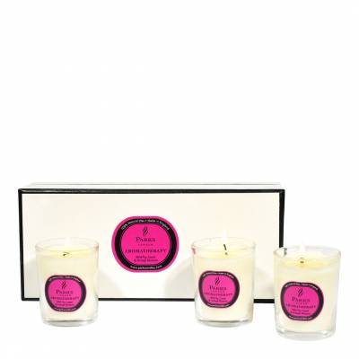 Set of Three Wild Fig/Cassis/Orange Blossom Scented Candles