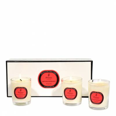 Set of Three Pomegranate Aromatherapy Candle Glass Tots