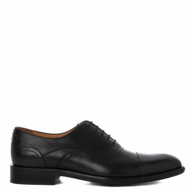 Black Leather Souza Smart Shoes