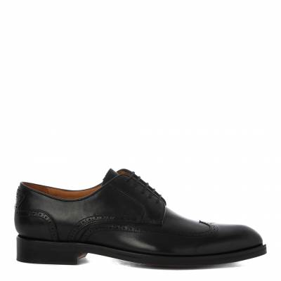 Black Leather Baldini Derby Shoes