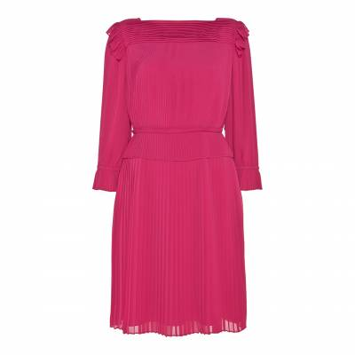Pink Rose Pleated Dress