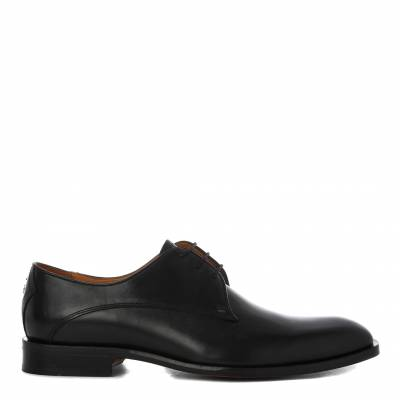 Black Leather Penselo Derby Shoes
