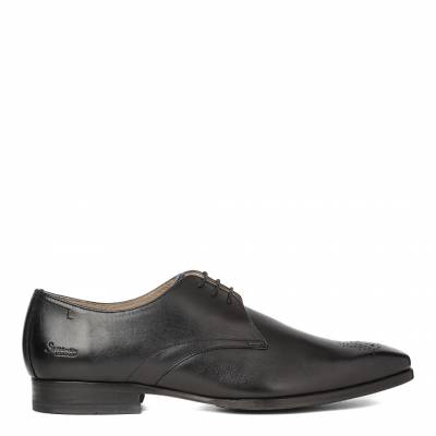 Black Leather Reeth Derby Shoes