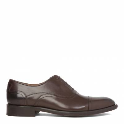 Brown Leather Souza Oxford Shoes