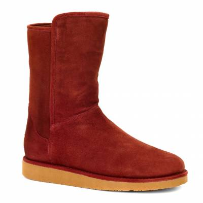 Red Suede Abree Short Boots