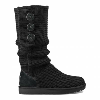 Black Wool Classic Cardy Boots