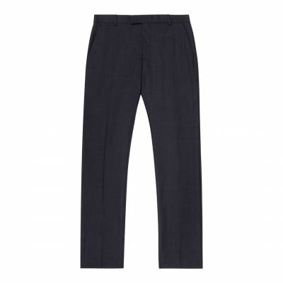 Navy Wool Brill Trousers