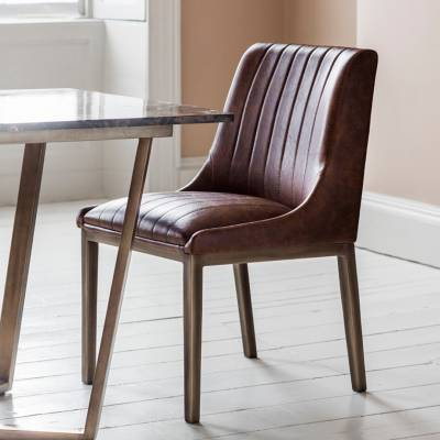 Pack of Two Nero Faux Bronze Chairs