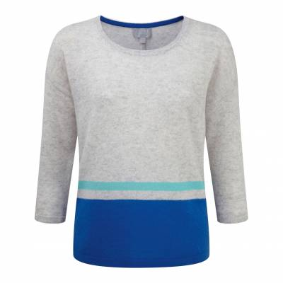 Grey and Blue Relaxed Gassato Sweater