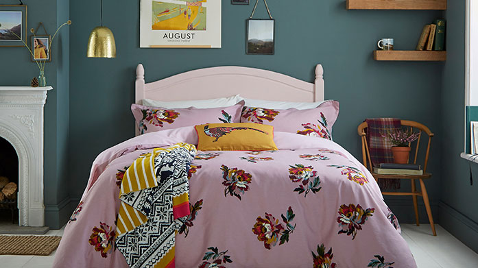 Joules Bed Linen Browse our new collection of linens from Joules, featuring floral duvet sets, striped towels and knitted throws.