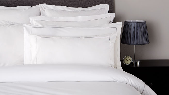 Hotel Living 800TC Linens Crafted in luxurious 800 thread count, choose from a wide border or single row cord for an indulgent feel and sophisticated styling.