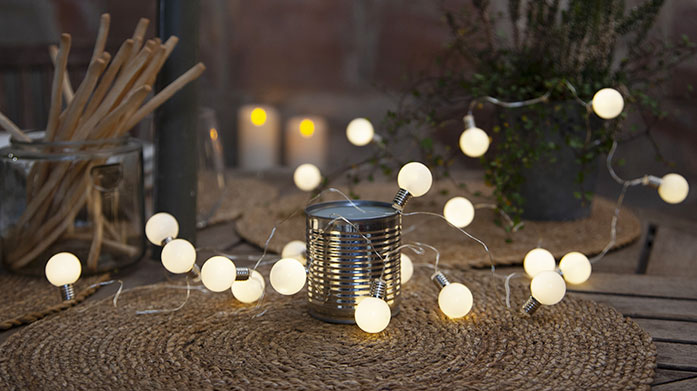 Indoor & Outdoor Party Lighting Whether you're partying inside or outside, choose these colourful string lights, garden lights and lanterns to illuminate your home in style.
