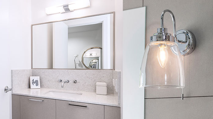 Bathroom Lighting Create a fresh new sense of space with our edit of bathroom lighting, featuring wall lights, mirror lights and ceiling pendants.
