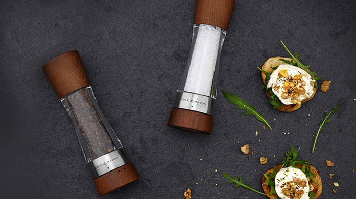 Cole & Mason Take your dining game to the next level with these stylish salt and pepper grinders, pestle and mortars and herb keepers by Cole & Mason.