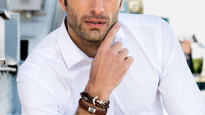 Style File for Men Get the designer look for less with this stylish collection of men's jewellery and watches by the accessory master, Stephen Oliver.