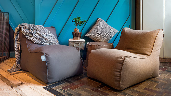 Indoor & Outdoor Bean Bags These indoor and outdoor bean bags by Elephant make the perfect loungers for relaxing at home and in the garden...