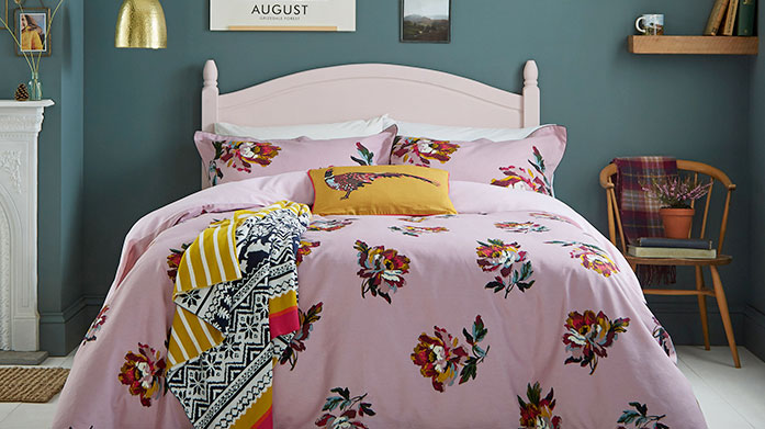 Joules Bedding New stock just in! Browse our new collection of bed linen from Joules, featuring floral duvet sets, striped towels and knitted throws.