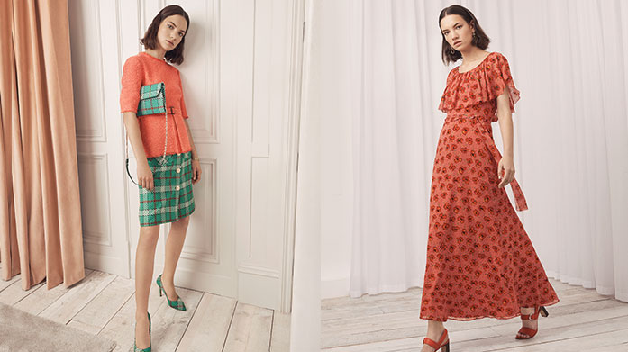 New In: L K Bennett Womenswear  Our brand new L.K. Bennett womenswear sale features dresses for all occasions, printed midi skirts, stylish jumpsuits and everyday blouses. Dresses from £39.