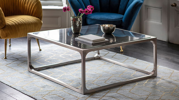 Luxe Living by Gallery Add some luxe furniture to your interiors from this edit of bronze coffee tables, display units, cabinets and drinks trolleys by Gallery.