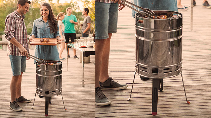 Tramontina BBQ Give a little Brazilian flavour to your grilling with a Tramontina BBQ! Shop the beer barrel grill with Tramontina cooking utensils to match.