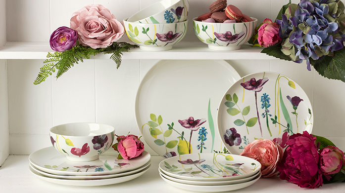 Portmeirion Brands Charming homeware from Portmeirion including mugs and plates from the Water Garden collection, stemless glasses and even a cake stand or two.