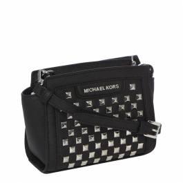 27ba84b54d30 Black Leather Studded Mini Selma Cross Body Bag - BrandAlley