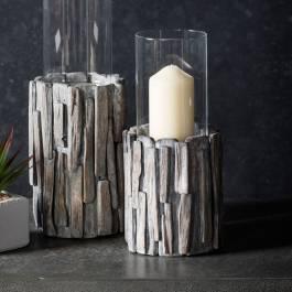 invicta driftwood votive 12x12x18cm brandalley. Black Bedroom Furniture Sets. Home Design Ideas