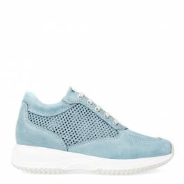 1d609e6658d6e Women's Blue Leather Chunky Trainers - BrandAlley