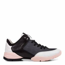 ff8d3d6b0b7d3 Women's Black and Pink Sfinge Lace Up Sneakers - BrandAlley