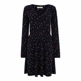 c81ed1f73a53 Navy/Multi Star Button Short Skater Dress - BrandAlley