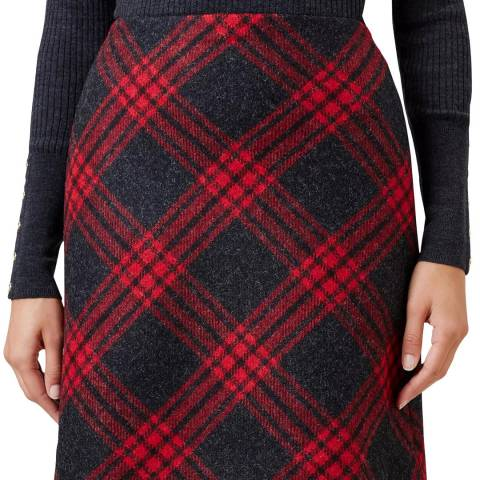 Hobbs London Red Charcoal Elea Skirt