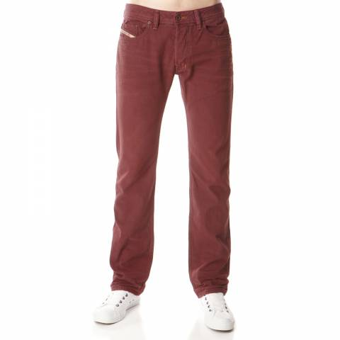Diesel Red Faded Safado Slim Straight Jeans