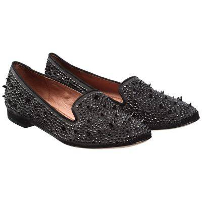 c79b8320fa0c Black Suede Studded Adena Shoes - BrandAlley