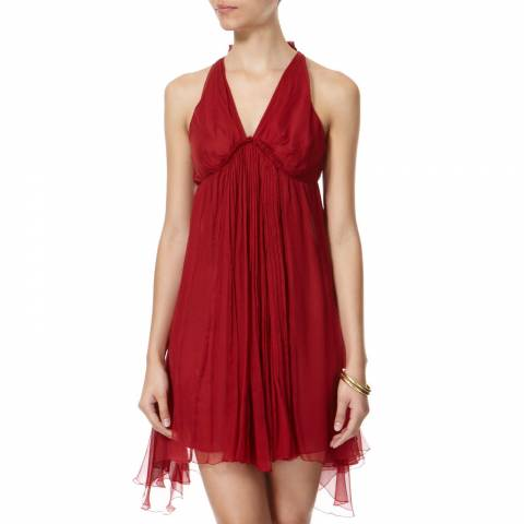 Leon Max Collection OLD STYLE Burgundy Halter Dress