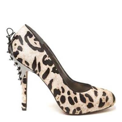 545f2fa0731d2 Nude Evan Leopard Stud/Lace Shoes 11.5cm Heel - BrandAlley