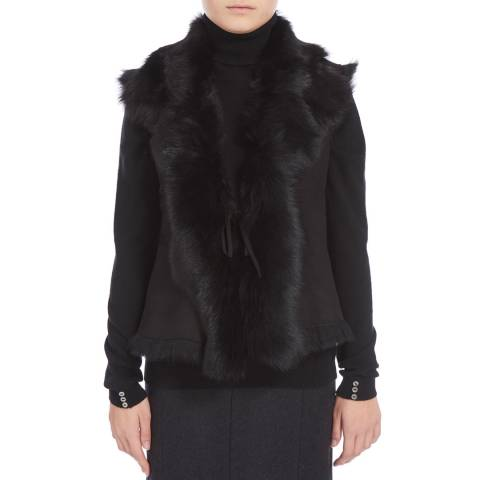 Shearling Boutique Black Shearling Gilet