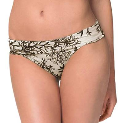 Heidi Klein Brown/Cream Mustique Fold Over Bikini Briefs