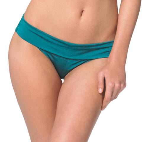 Heidi Klein Turquoise Costa Rica Fold Over Bikini Briefs