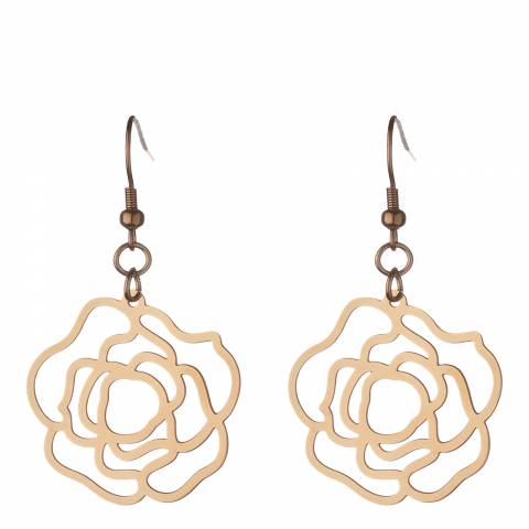 Chloe Collection by Liv Oliver Rose Gold Open Earrings 18ct