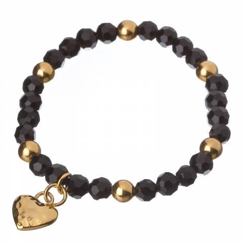 Liv Oliver Black/Gold Sphere Bracelet