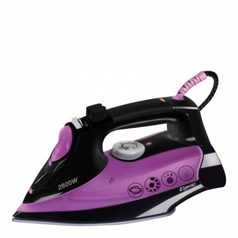 Elgento Purple/Black Ceramic Steam Iron 2600W
