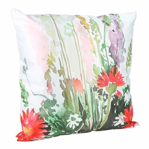 Malini Leaf Print Cushion 43x43cm