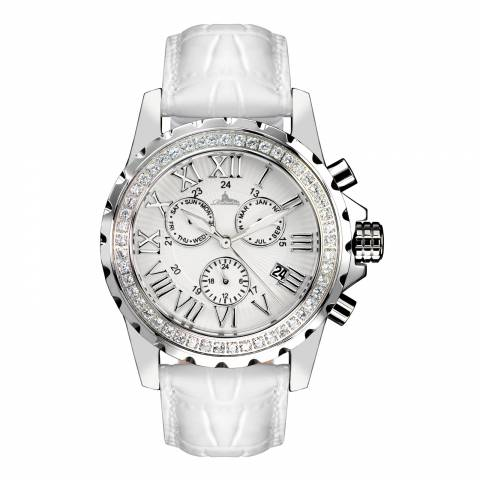 Richtenburg Women's White/Silver Stainless Steel/Leather Romantica Watch